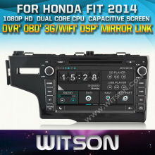 WITSON for HONDA FIT 2014 WITH CHIPSET 1080P 8G ROM WIFI 3G INTERNET DVR SUPPORT