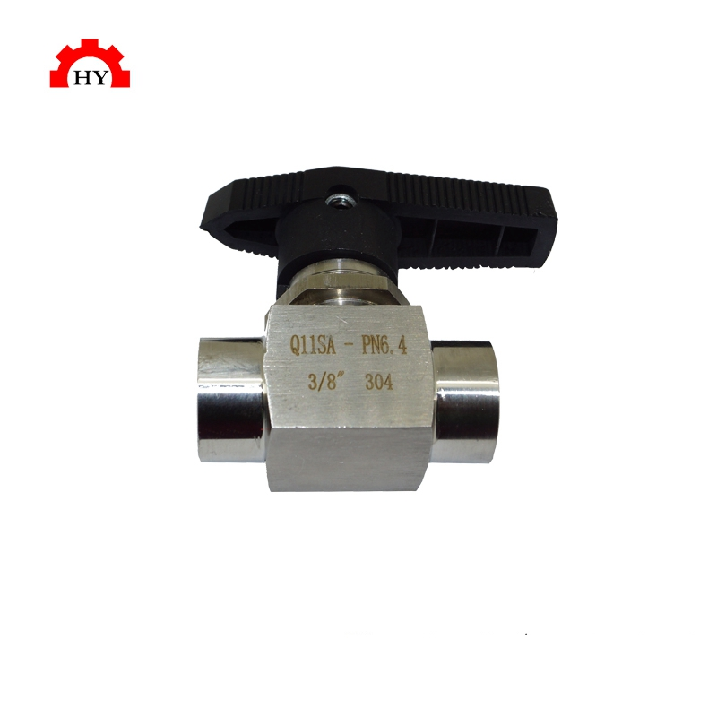 Stainless steel 316 direct way manual 2 way female thread ball valve