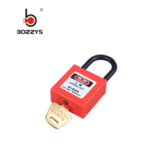 Boshi New Industrial Safety Small Plasti Lock Padlock With Zinc Alloy Shackle And Nylon Body bd-300