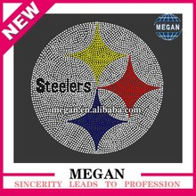 Hotsale template steelers hot fix rhinestone transfer for garment decoration