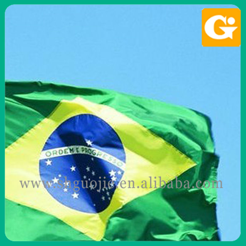 Brazil national flags 2014 world cup flags printing