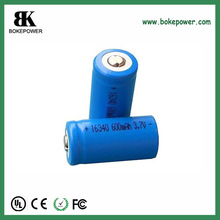 rechargeable battery 600mAh 16*34mm li-ion battery cell