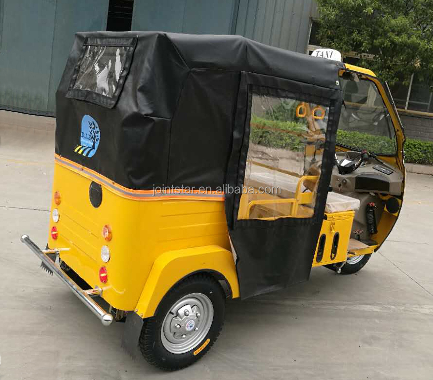 175-200cc Water Cooling Bajaj Three Wheels Taxi Motorcycle With 4 Passenger Seat
