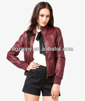 Italian ladies long sleeve leather jacket coats