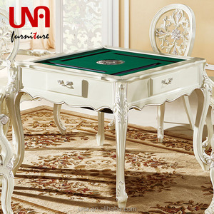 Leisure electric mahjong table with mahjong living room set solid wood table playing room furniture set