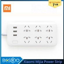 Original Xiaomi Mijia Power Strip 2A Fast Charging 3 USB Extension Socket Plug 6 Standard Socket Adapter