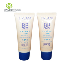 Empty 60ml BB cream plastic tube packing with screw cap