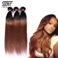 Wholesale Brazilian Hair 1b/30 Black and Brown Milky Way Hair Cheap Human Hair