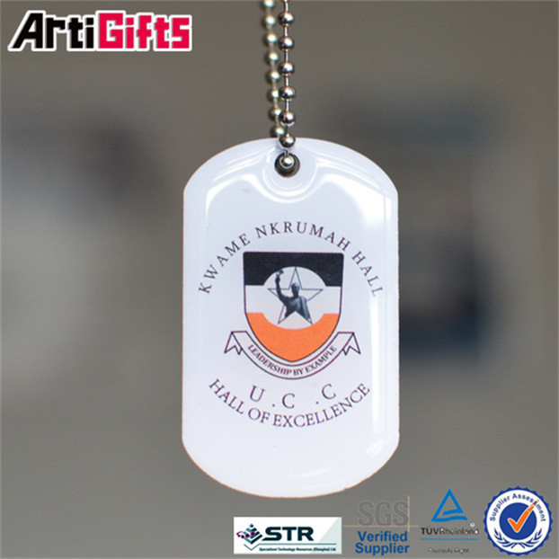 New fashion laser engraved dog tag with company name