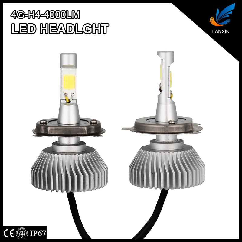 COB LED 25w 4000lm 6500k H4 IP67 car interior lights