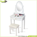 Pretty dressing table set White modern vanity dresser with mirror for bedroom