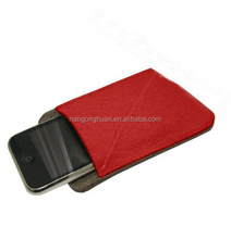 Beautiful felt phone bag ,handmade small felt bag cell phone bag