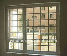 Interior cheap door white color PVC door, grids style PVC accordion door, horizontal door casement