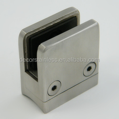 stainless steel wall mount glass clamp
