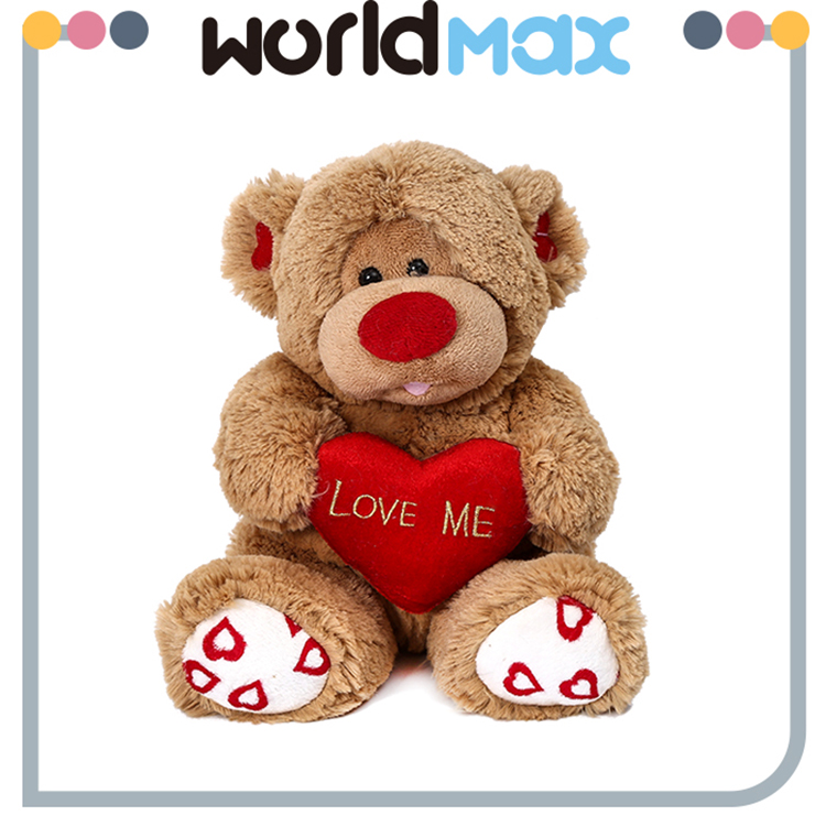 Good Quality Decorative Plush Heart Monkey Cartoon Baby Girls Toys