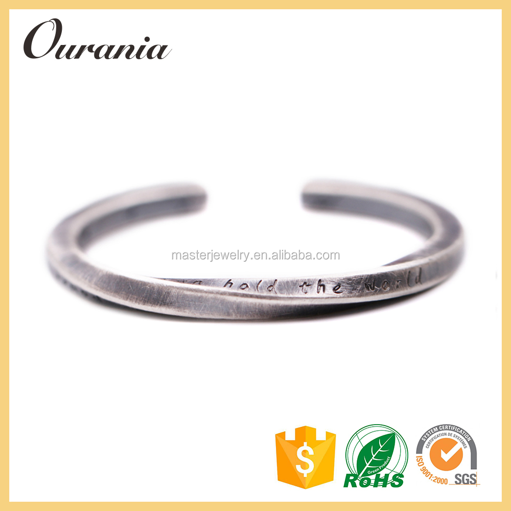 2017 Fashion Jewelry Stainless Steel Bracelet Write Name For Gift