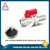 brass gas ball valve with hose union 1/2 inch brass body full port and forged high pressure ppr NPT threaded connection with PPR
