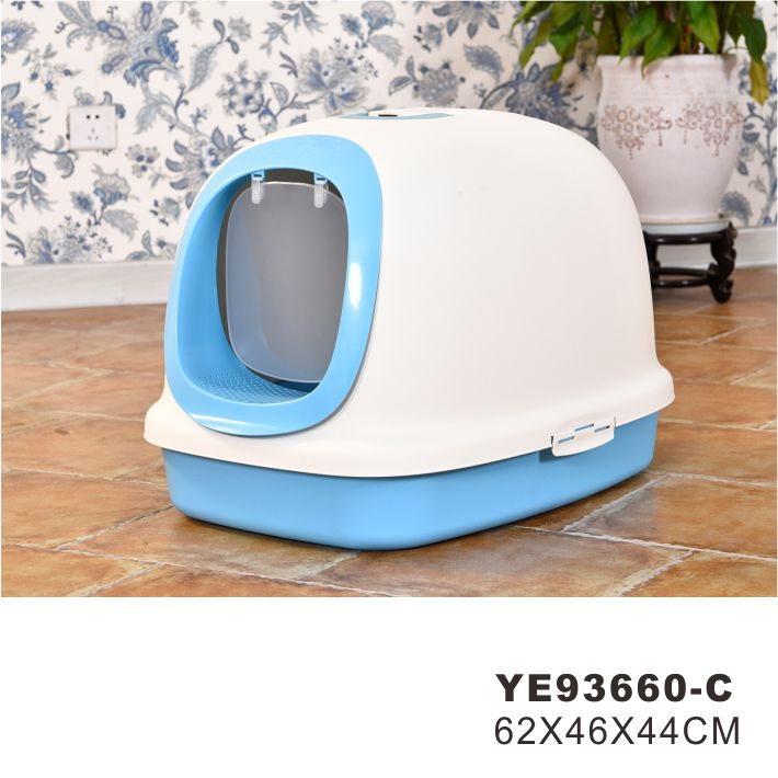 Low MOQ Square Corner Cleaning Litter Box Cats