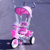 Deluxe baby tricycles with single seat, plastic toy kids trike animal head shape tricycle pedal bike