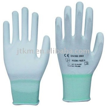 PU coated nylon glove JINLONG