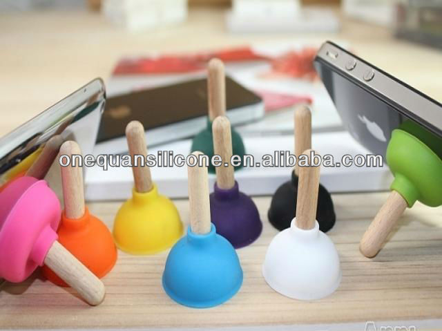 silicone mobile phone holder/silicone rubber sucker wholesale