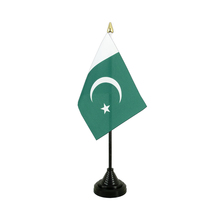 New Products Polyester Pakistan Flag Office Desk Top Decorative Table Flag With Stand