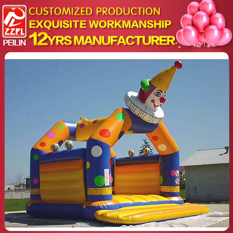 Giant bungee adult inflatable clown bouncer
