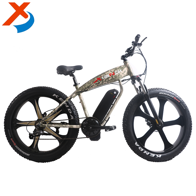 "26"" fat tyre mid-engine integral wheel electric fat cruiser bike / e-bike"