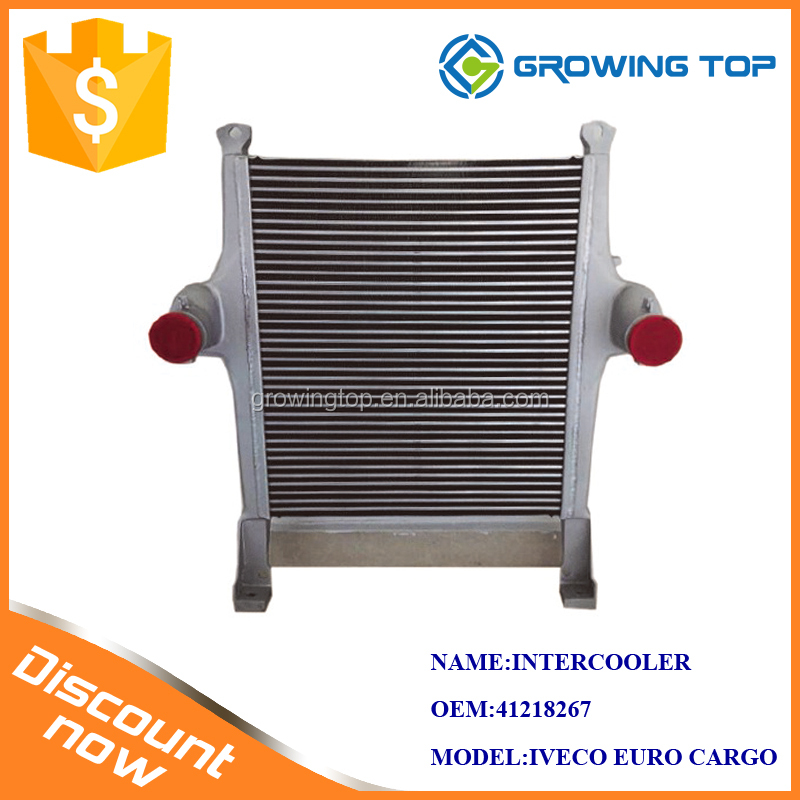 Supplying high quality IVECO EURO CARGO Intercoolers water to air intercooler 41218267