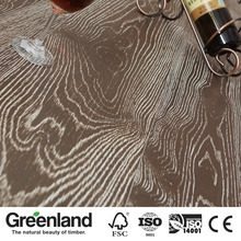High Quality Wire Brushed European White Oak Engineered Distressed Wood Flooring