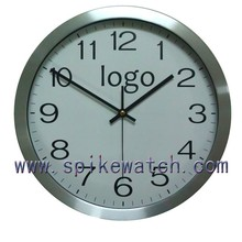 Print your logo and aluminum material wall clock, clock dial
