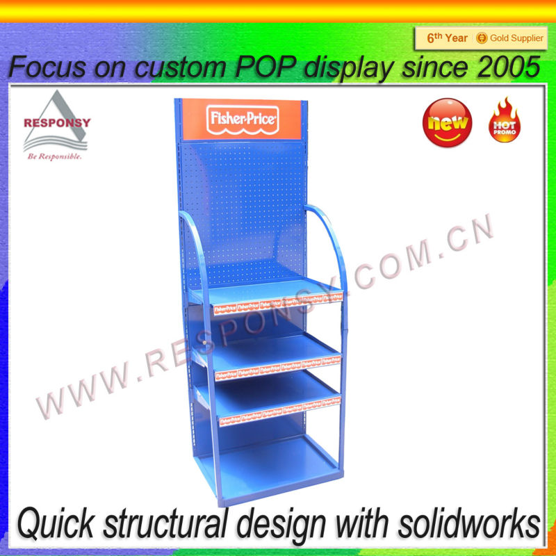 Sports equipment display shelf, customized display rack