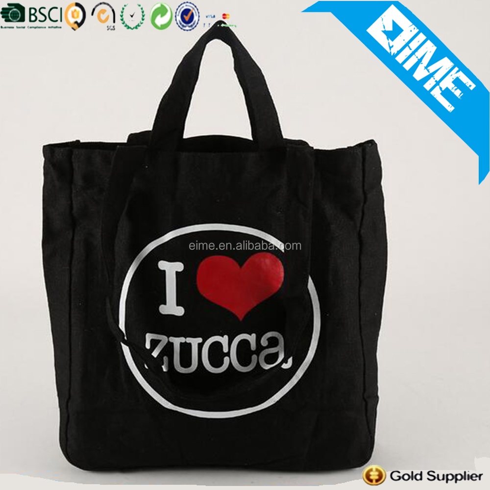 Alibaba Export Online Supplier Handle Tote Wholesale Rope Handle Canvas Cotton Bag