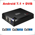 Newest tv box android 7.0 dvb t2 s2 c android tv box digital satellite receiver