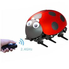 RC Ladybug Radio control bionic Insect toy DIY electronic 2.4GHz wireless remote control RC toys intelligent ladybug robot-with