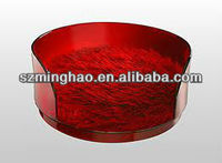 red round acrylic PMMA pet bed with fluffy cushion