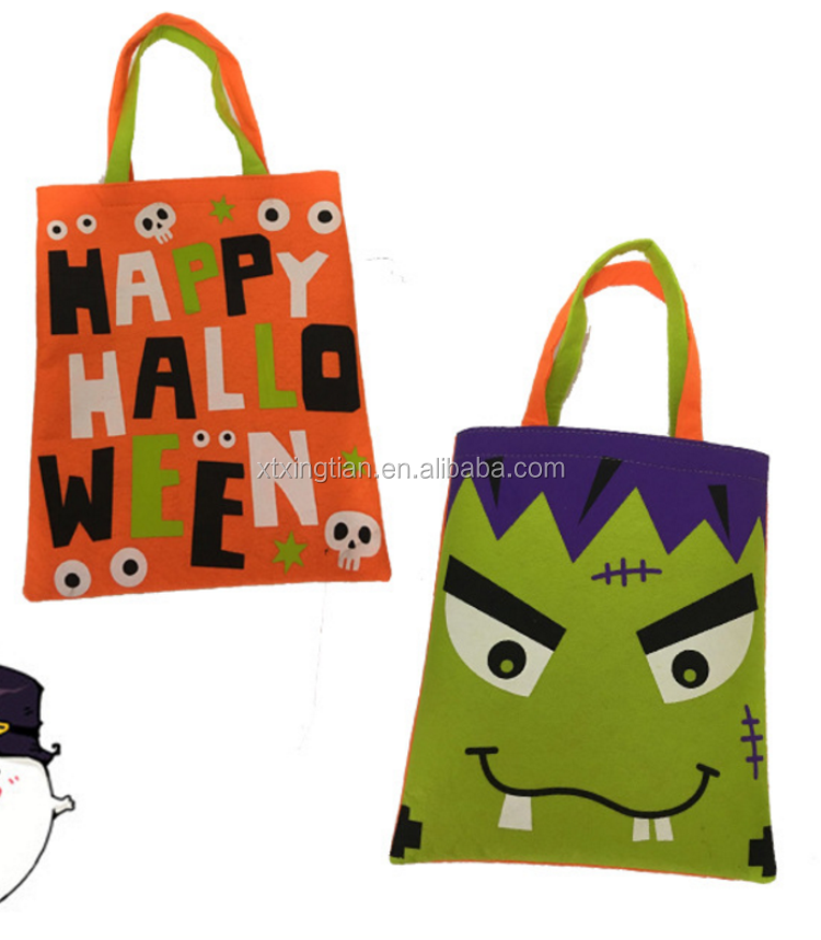 Eco-friendly holiday bags felt carry bag neoprene shopping tote Halloween bags