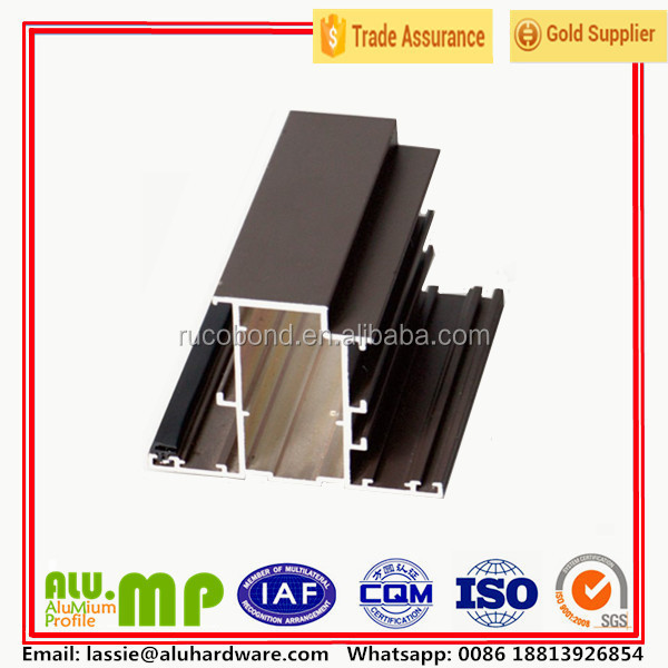 Champagne color aluminum profile sliding windows