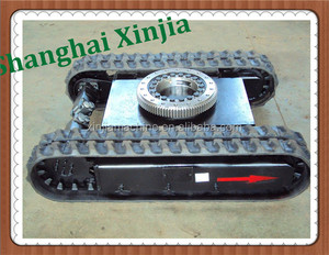 China suppliers mini drilling rig rubber crawler robot track