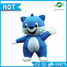 Good qulity and cheap price cartoon character fancy dress of inflatable mascot costume moving cartoon for commercial