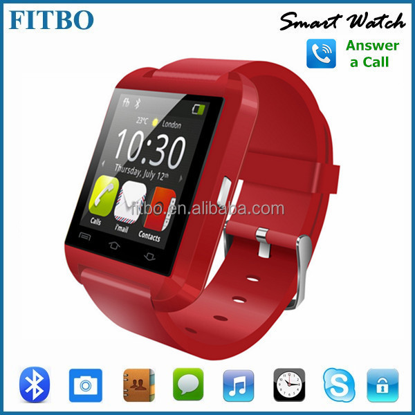 Bluetooth 4.0 FITBO mp3 player watch for iPhone 4/4S/5/5S Samsung S4/Note 2/Note 3 Android