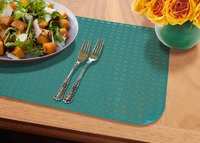 Hot selling Translucent Cyan Plastic Dining Placemat