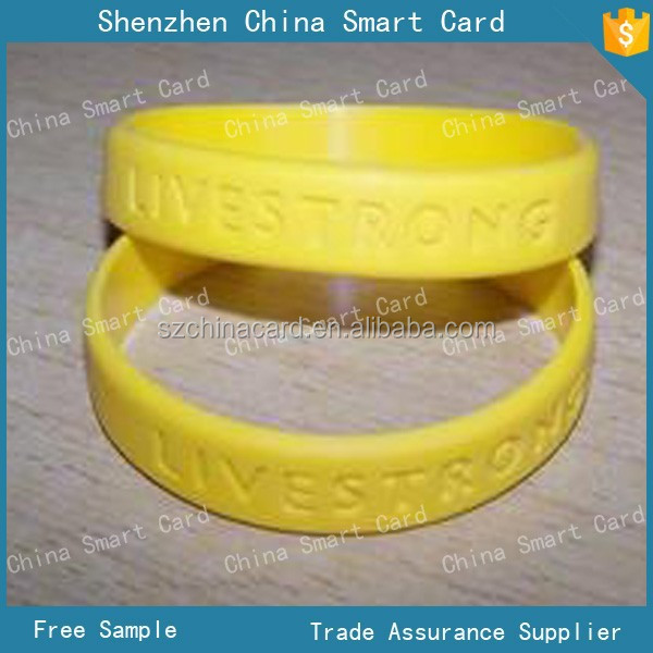 13.56mhz logo printable RFID wristband with silicone meterial