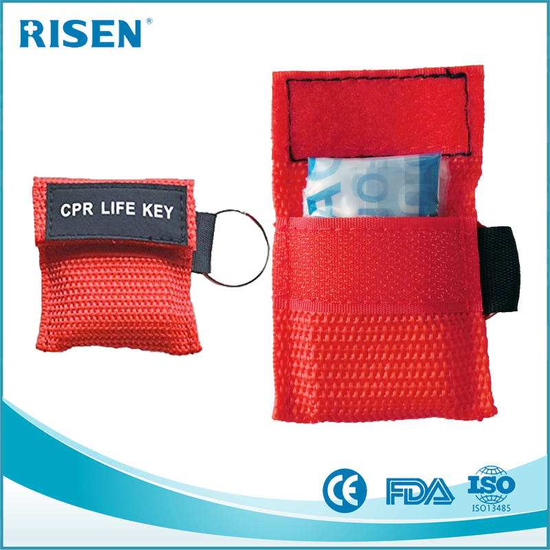 Wholesale Disposable Mini CPR Life Key/CPR Face Shield/CPR Mask Keychain One Way Valve