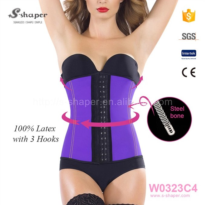 Woman Underwear Latex Waist Cincher Mature Women Sexy Lingerie Corset W0323C4