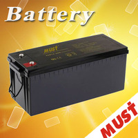 China manufacturer hot sale Maintenance Free lead acid deep cycle solar battery 12v 200ah backup battery for solar system