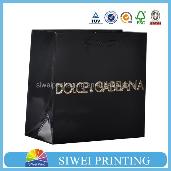 newest custom paper bags black paper bag lovely fashional euro paper gift /shopping bags