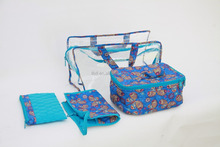 QUILTED 4-PC.TRAVEL COSMETIC MAKEUP ORGANIZER BAG SET