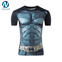 Mens Superman The Avenger Character Printed T Shirts/men 3d Printed Fast Dry Short Sleeve T Shirt /GYM Men T Shirts