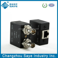 Dual Shielded Bulkhead BNC (F)*2 to RJ45(F) Balun Box connector